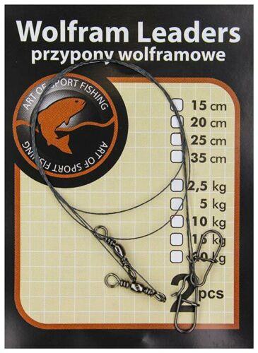 Jaxon Wolfram dirigeants MICRO TITANIUM WIRE Spin Traces 2pc Perche Predator Pêche