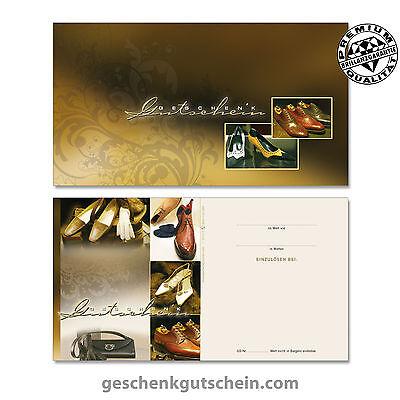 Gutscheine mit Kuvert Schuhe Schuhfachhandel SH1213