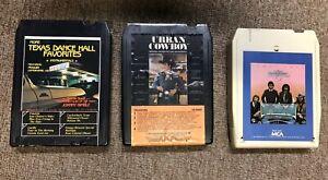 Oak-Ridge-Boys-Texas-Dance-Hall-Favs-Urban-Cowboy-Country-8-Track-Tapes-Lot-Of-3