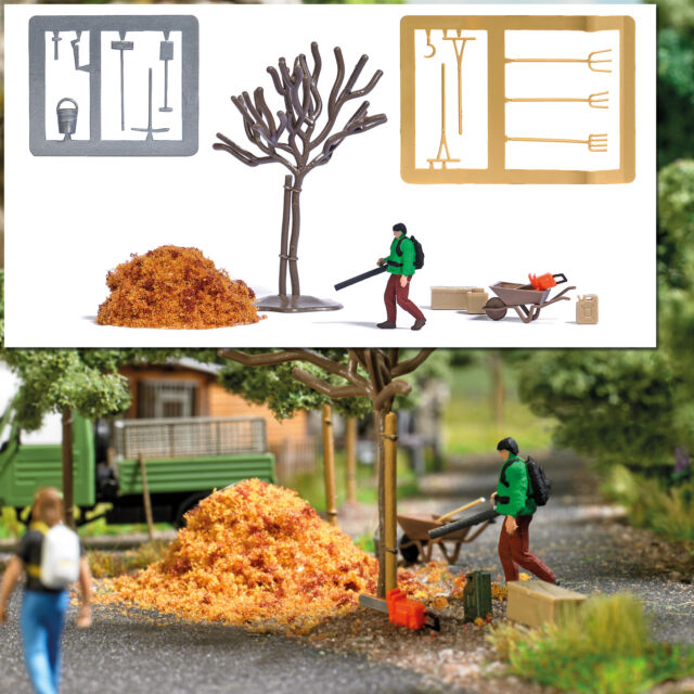 Action Set: Leaf Blower - OO gauge Figures Busch 7852