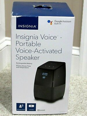 Insignia Voice Smart Portable Bluetooth Speaker &Google Assistant  NS-CSPGASP10 6006031014479  eBay
