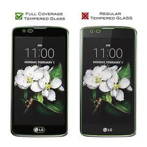 Full Coverage Premium Tempered Glass Screen Protector Film for LG K7 / Tribute 5