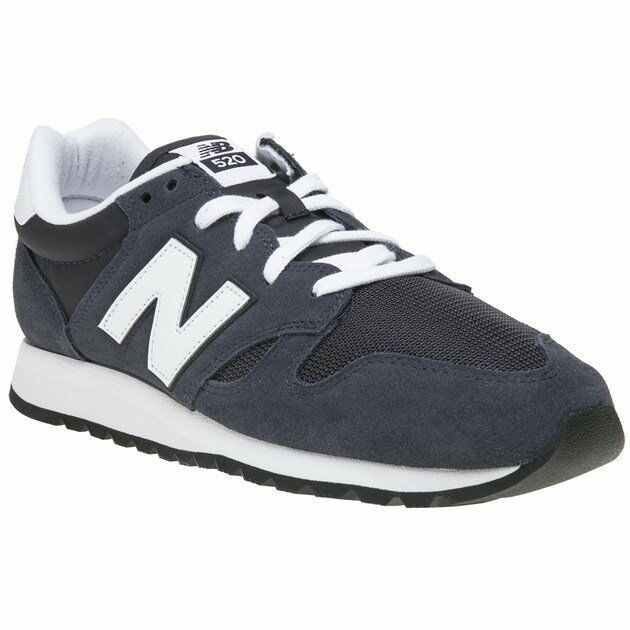 New MENS NEW BALANCE NAVY 520 SUEDE Sneakers Retro