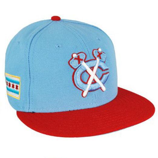 Chicago Blackhawks New Era 9FIFTY Sky Scarlet Adjustable Snapback Hat NHL Cap
