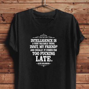 Peaky Blinders T Shirt Alfie Solomons Quote Tom Hardy Movie Tv Series Unisex Tee Ebay