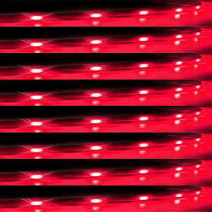 Lot8-Red-15-LED-30CM-Car-Grill-Flexible-Waterproof-Light-Strip-SMD-12V-Sales
