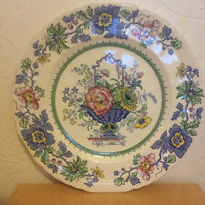 Vintage Masons Plate - Strathmore Pattern C4792 With Scalloped Edge 26 CM SUPERB
