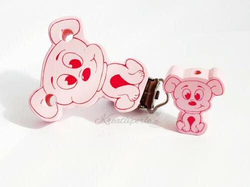 1 adorable petit chiens Formclip motif comme Kit Rose Pour Chaînes De Tétine