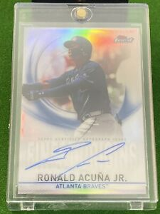 2019 TOPPS FINEST ORIGINS RONALD ACUNA JR 🔥 AUTO Silver 🔥 BRAVES 🔥 Invest