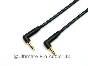 Neutrik Mini Jack Lead Headphone 3.5mm to 3.5mm Right Angled Jack Cables TRS