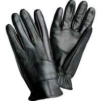 NEW Mens Genuine Solid Black Leather Driving Gloves Basic Cold Bike M L XL GIFT