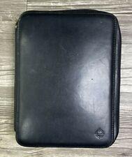 Classic Franklin Covey Black Full Grain Napa Leather Zip Planner Binder 7 Ring