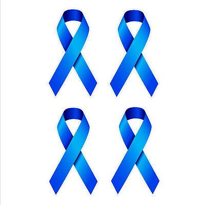 Colon Bowel Cancer Awareness Ribbon Car Bumper Stickers Set 4 Vinyl 37 X 65mm Ebay