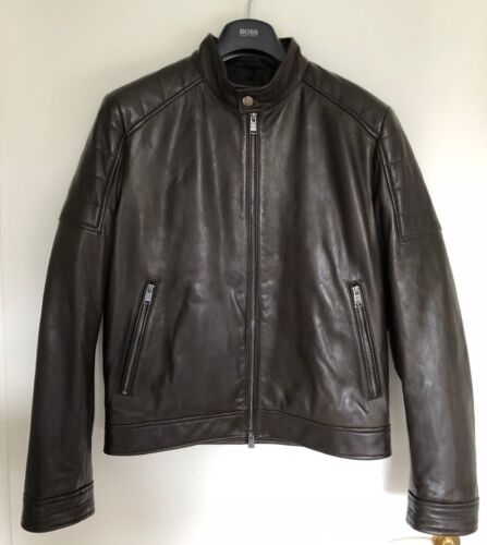 2018 Neu Hugo Von Original Leather Lederjacke Gr Boss Jacket 48 Braun 100 z8qfn
