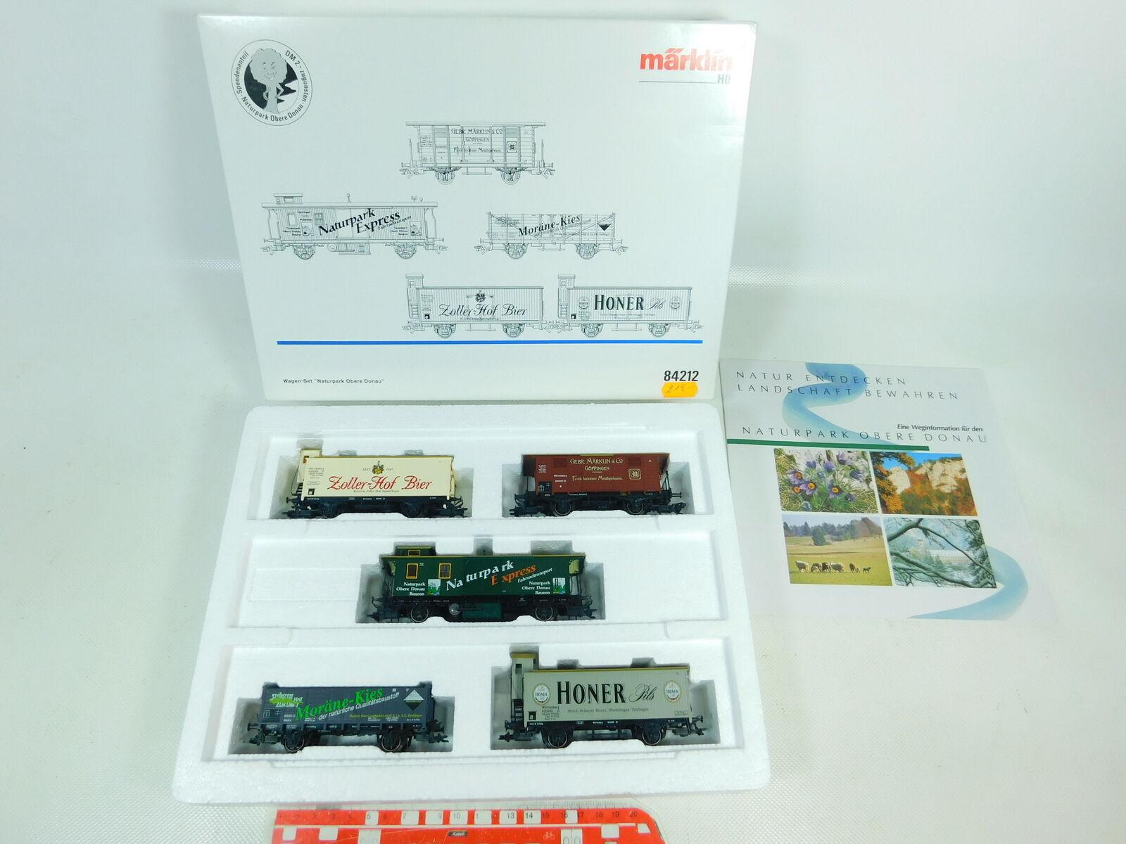 Bs891-1  Märklin h0 ac 84212 Cars Set Natural Park Upper Danube NEM KK New; Boxed