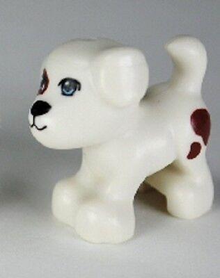 LEGO Animal Minifigure dark flash Dog Small Standing with Blue Eyes NEW