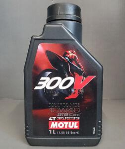1-x-Motul-300V-4T-10W40-L-039-HUILE-DE-MOTEUR-motorradol-1-Litre-ROAD-RACING