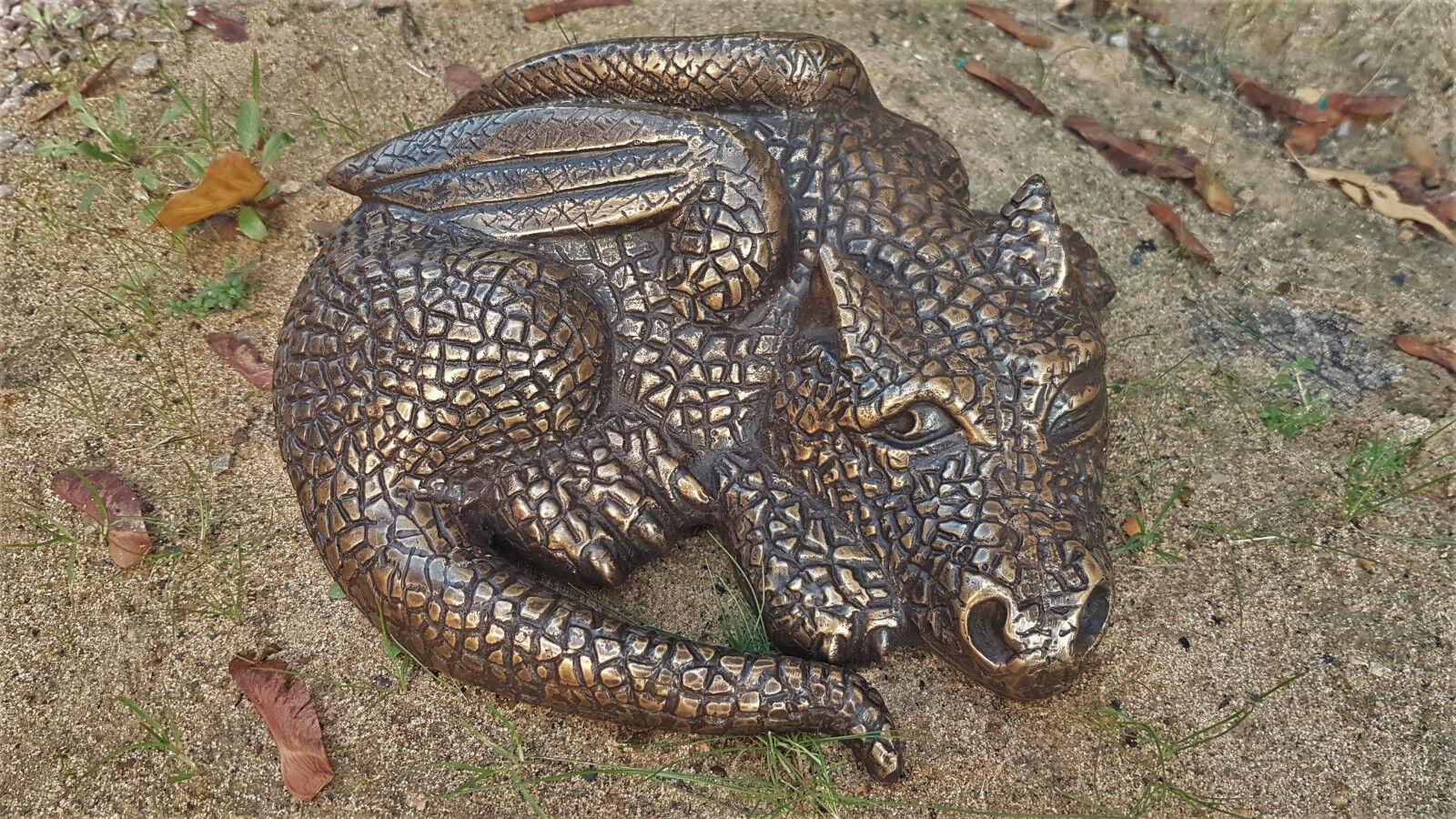 Drago bronzo per la decorazione o come regalo per amici draghi NUOVO mu-144