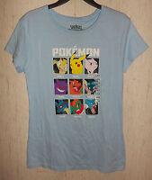 Womens Pokemon Light Blue Novelty T-shirt Size Xl