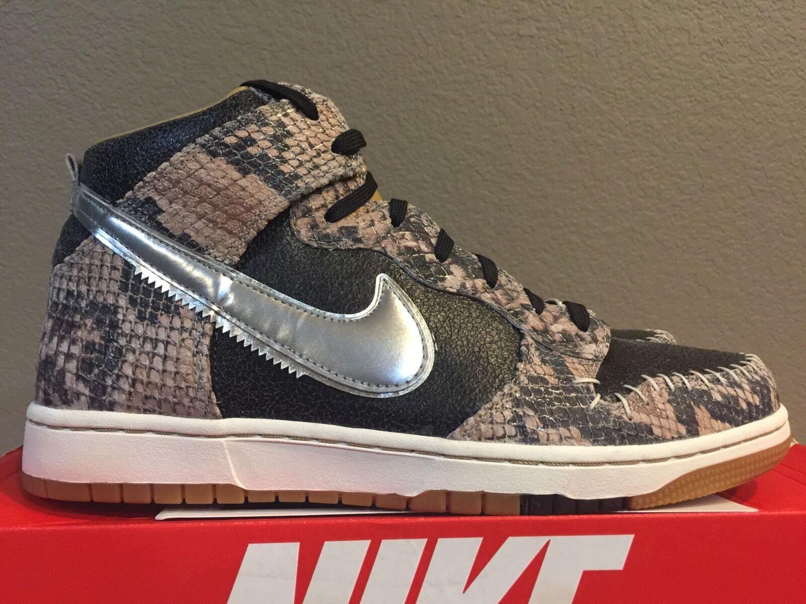 Nike Dunk CMFT PRM QS [716714-001] Snakeskin Black Silver-Sail Size 10.5