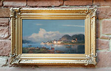 Magnífica antiguo Rhine roma de 1861 firmado Al BOYEN. SUPERIOR Pintura óleo