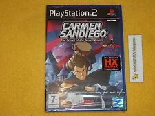 CARMEN SANDIEGO  PS2 SONY PLAYSTATION 2 VERSIONE ITALIANA NUOVO SIGILLATO