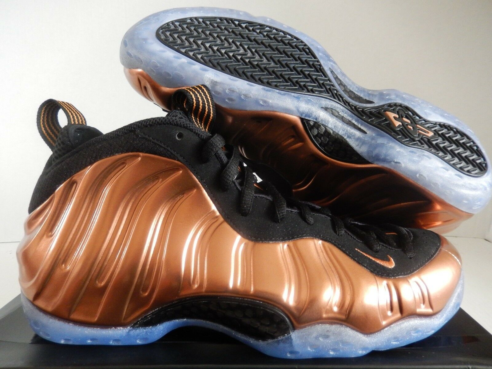 NIKE AIR FOAMPOSITE ONE BLACK-METALLIC COPPER-BLACK SZ 9 [314996-007]