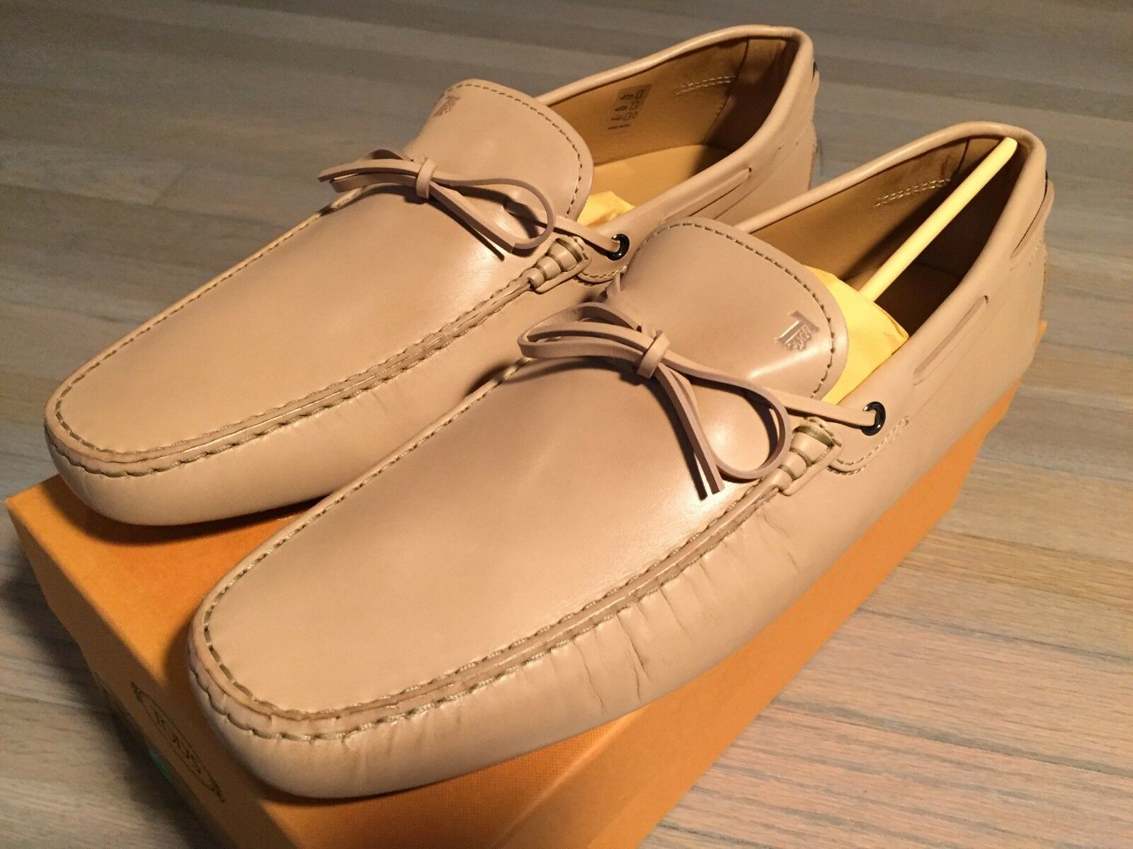 595 Tod's Laccetto Montone Leather Gommino Drivers Size US 13 Made In Italy