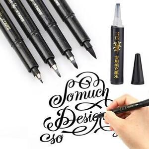 Calligraphy-Pen-Hand-Lettering-Pens-Brush-Black-Ink-Writing-Drawing-Art-Marker