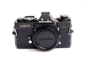 Minolta XD-7 Spiegelreflexkamera schwarz / black TOP
