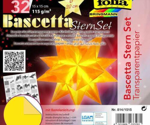 Origami Star Bascetta 32 Sheets 15x15 Yellow Cm Cut Paper Craft Supplies Cr...