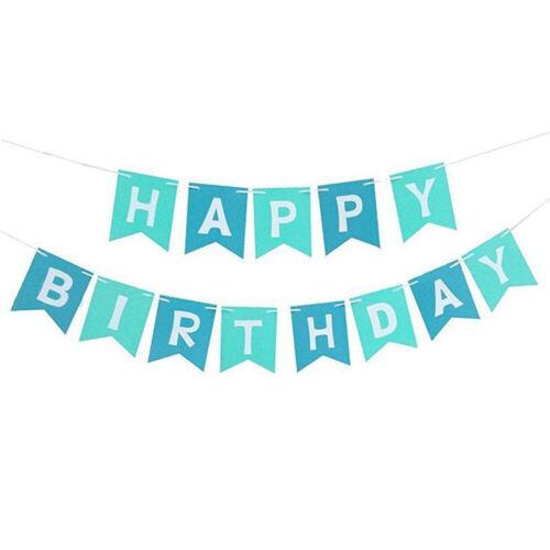 Alphabet Happy Birthday Banner Paper Flag Garland Birthday Party Bunting Decor