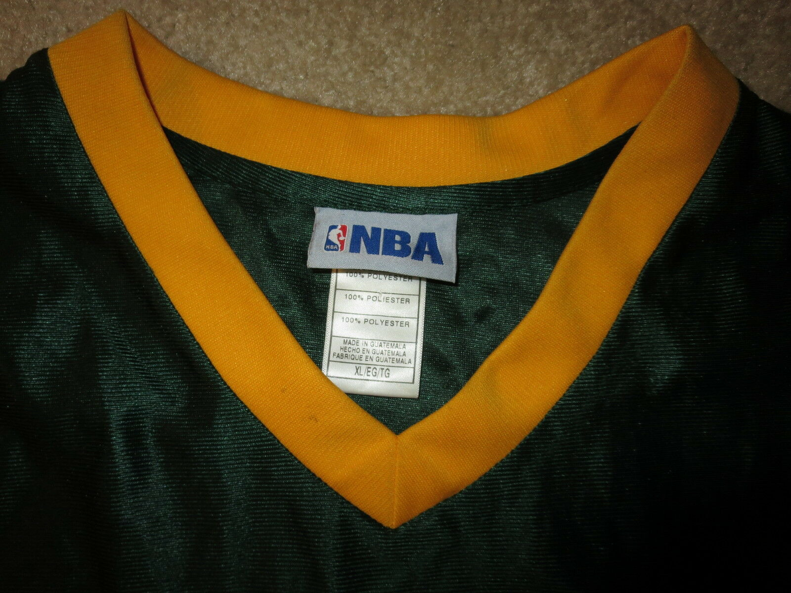 Seattle Supersonics Sonics Blank Blank Blank Reebok NBA Trikot 8bd6a8