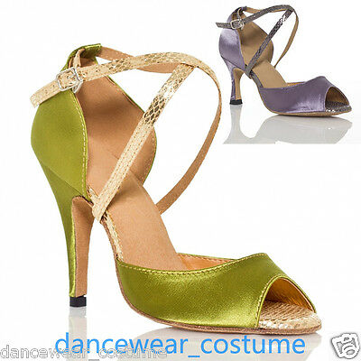 New Ladies Party Ballroom Latin Tango Jazz Salsa Dance Shoes Heels Sandals US5-9