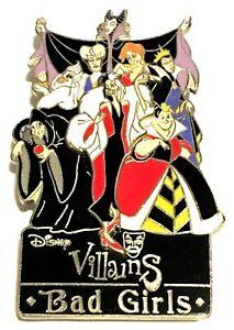 Walt Disney World Disney Villains Bad Girls Boxed Pin Ebay