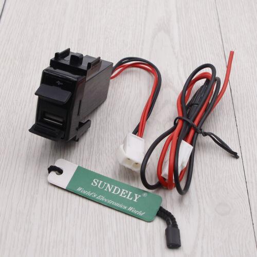 Car Dual 2 USB Port Charger Adapter For Nissan 12V Car Socket Lighter Splitter