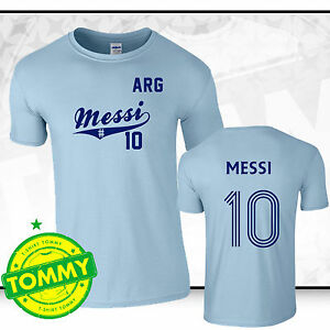 new products 12d17 a7201 Details about Messi World Cup Shirt Argentina Fan T-Shirt World Cup Brazil  2014