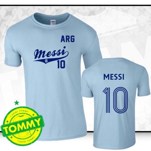 Messi World Cup Shirt Argentina Fan T-Shirt World Cup Brazil 2014
