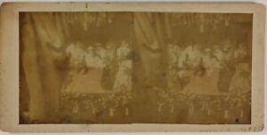 Théâtre Foto Stereo Amateur Danneggiata Th2n4 Vintage Citrato c1900