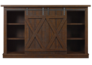 Image Is Loading Rustic TV Stand 60 Inch Entertainment Center Sliding