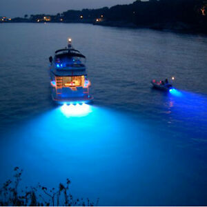 Details About Cree Bronze 9w Led Marine Light Led Underwater Boat Light Waterproof Blue Light