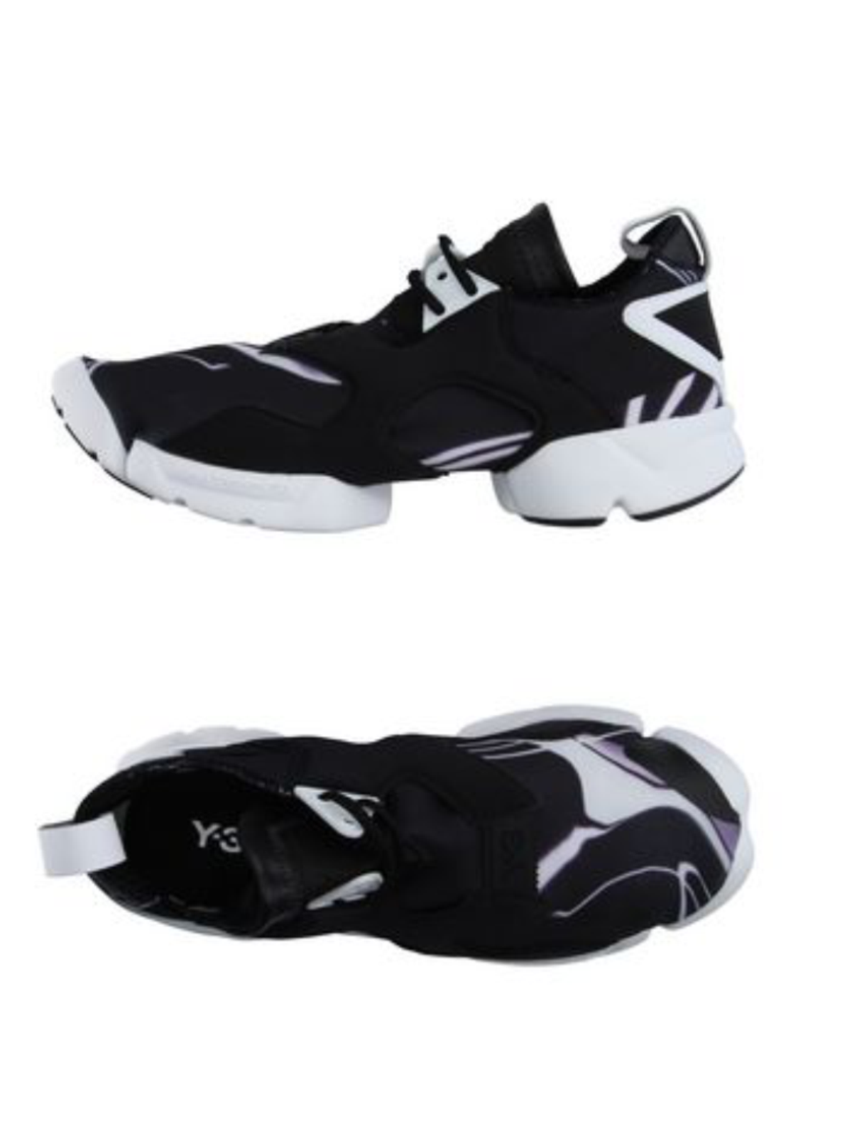 Y-3 by Yohji Yamamoto KOHNA Men's Flat Sneakers Two-Tone Textile Leather Size XL