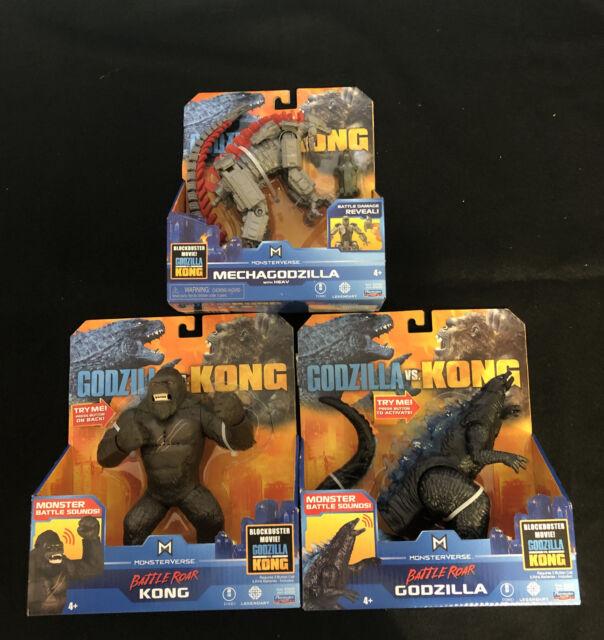 "Godzilla VS Kong 6"" MECHAGODZILLA, Battle Roar Godzilla and King Kong!! NIB!!!"