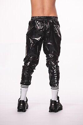 pvc  vinyl  Men/'s glanz silky wet look shiny nylon lads track Suit pants    new