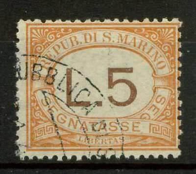 Briefmarken Europa Selbstlos San Marino 1925 Sass Ss26 Gestempelt 100% Gesundheit FöRdern Und Krankheiten Heilen