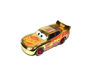 Disney Pixar Cars 3 Diecast Gold Rust Eze Lightning Mcqueen Loose