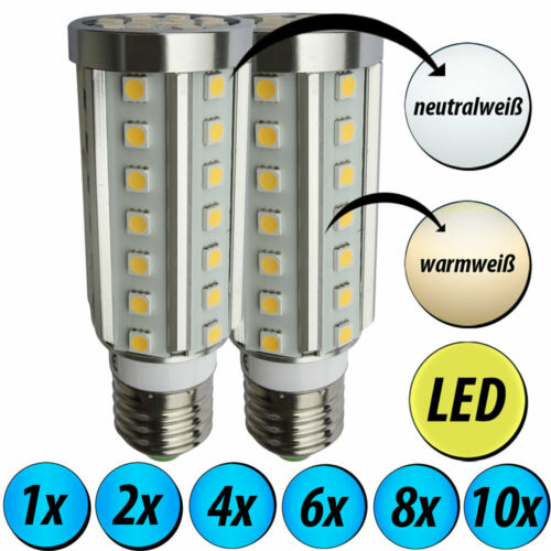 1-2-4-6-8-10x LED Leuchtmittel E27 warmweiß Leuchten neutralweiß Beleuchtungen