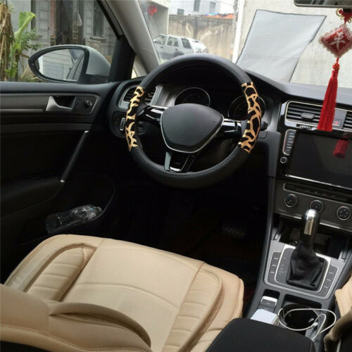 38cm Car Steering Wheel Cover Cute Leopard Fashion Inner Ring Car Supplies New