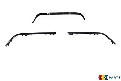 NEW Genuine Mercedes MB C W205 C63 AMG Pare-chocs arrière Trim Strip Gloss Black Kit
