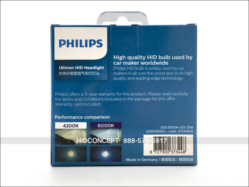 D3S Philips 6000K D3S ULTINON HID XENON Headlight Bulbs Made in GERMANY 42403WX